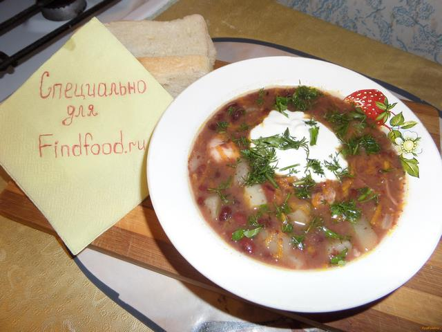Рецепт Суп из красной фасоли и куриного мяса рецепт с фото