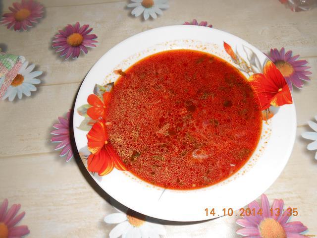 Рецепт Борщ с чесноком рецепт с фото