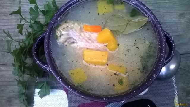 Рецепт Тыквенно-рисовый суп с куриными потрохами рецепт с фото