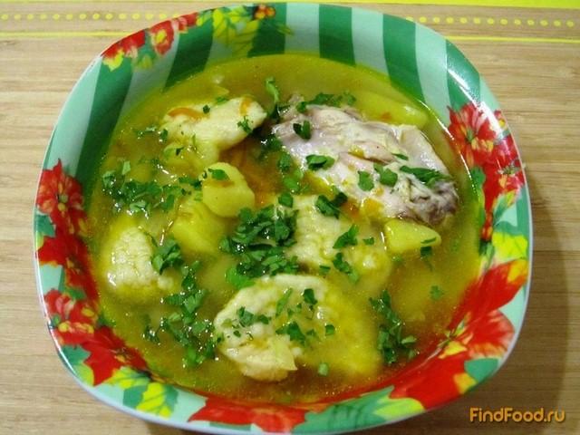 Рецепт Суп с куриными крылышками и галушками рецепт с фото