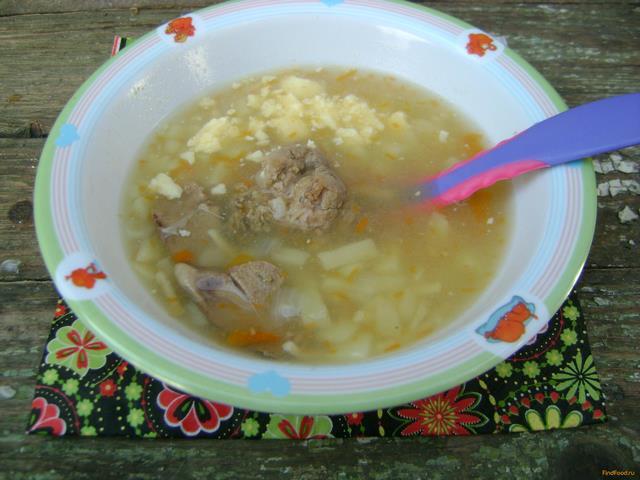 Рецепт Детский печеночный суп с домашней лапшой рецепт с фото