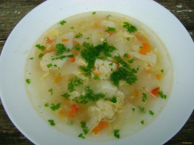 Рецепт Овсяный суп с цветной капустой рецепт с фото