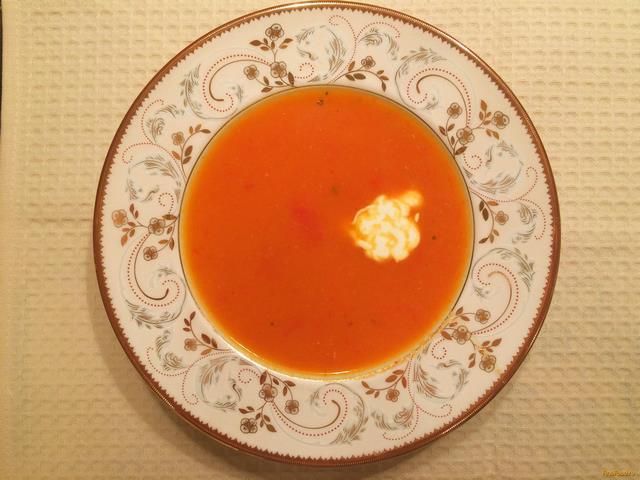 Рецепт Суп-пюре с болгарским перцем и томатом рецепт с фото