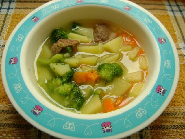 Рецепт Детский суп с телятиной и брокколи рецепт с фото