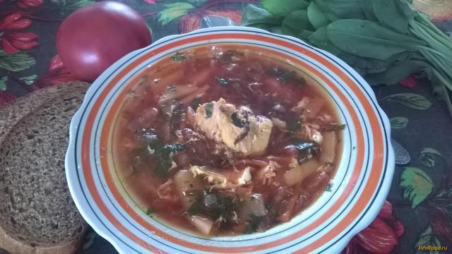 Рецепт Зеленый борщ с щавлем и шпинатом рецепт с фото