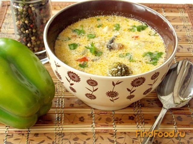 Овощной суп с грибами рецепт