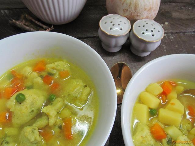 Рецепт Суп с клецками из манки рецепт с фото