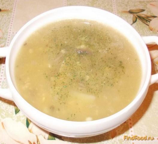 Рецепт Суп с пшеном и грибами на говяжьем бульоне рецепт с фото