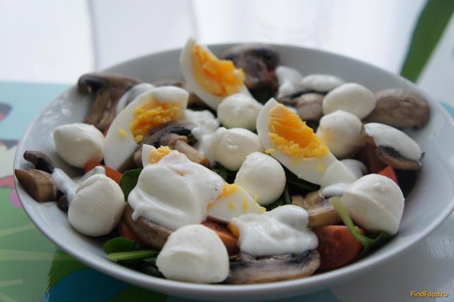салат с моцареллой шариками рецепт с фото