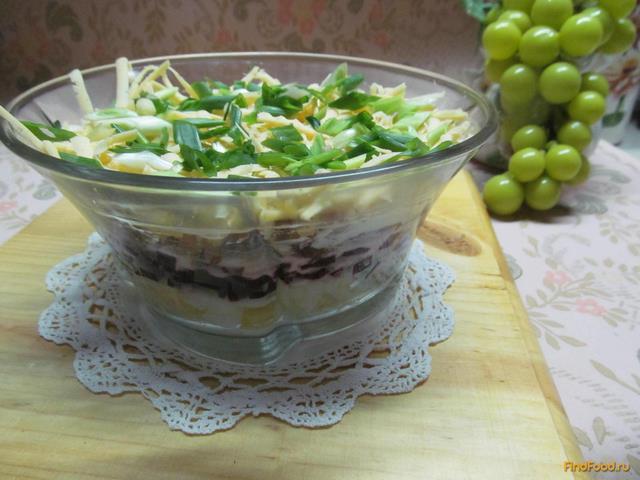 Рецепт Салат с куриным мясом сыром и свеклой рецепт с фото