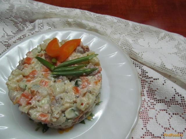 рецепт салатов с мясом свинины