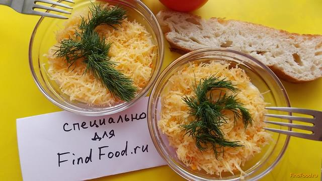 Рецепт Нежный сырно-морковный салат рецепт с фото