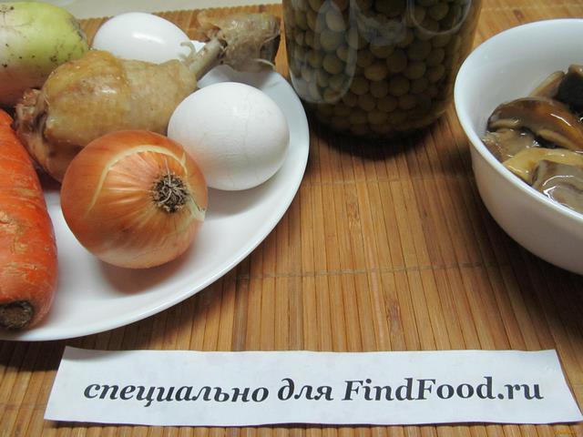 рецепт салата из курицы и корнишонов