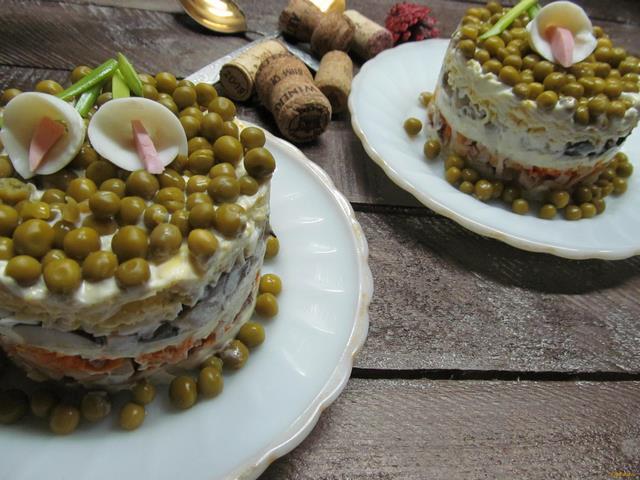Рецепт Салат из курицы грибов и редьки рецепт с фото