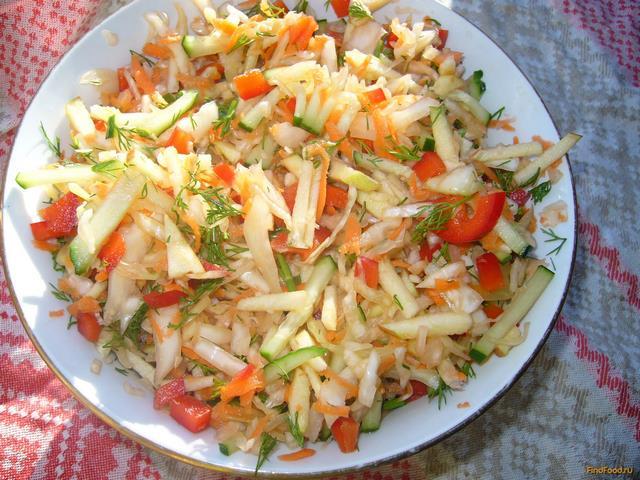 рецепт салата из капусты с перцем и морковкой