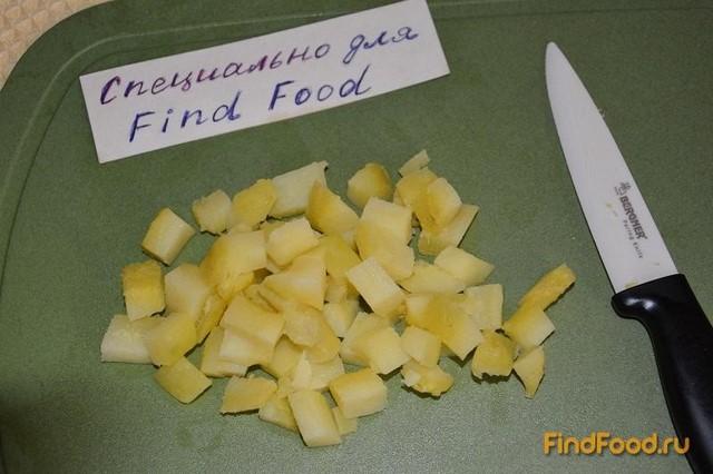 Салат с фасолью и сельдью рецепт с фото 4-го шага