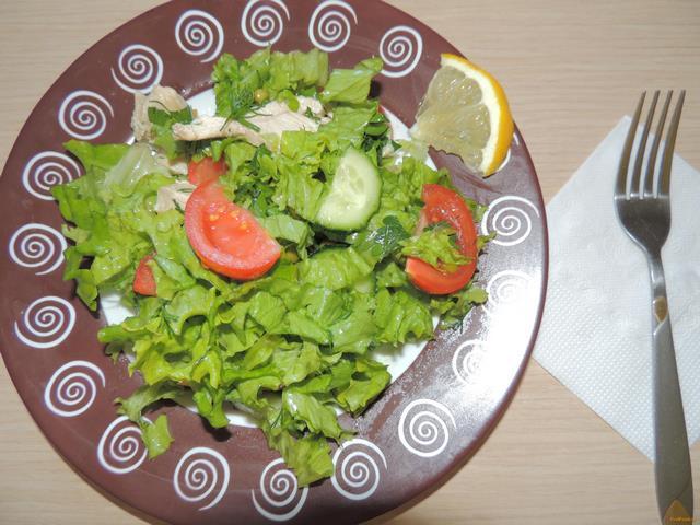 Рецепт Весенний салат с куриной грудкой рецепт с фото