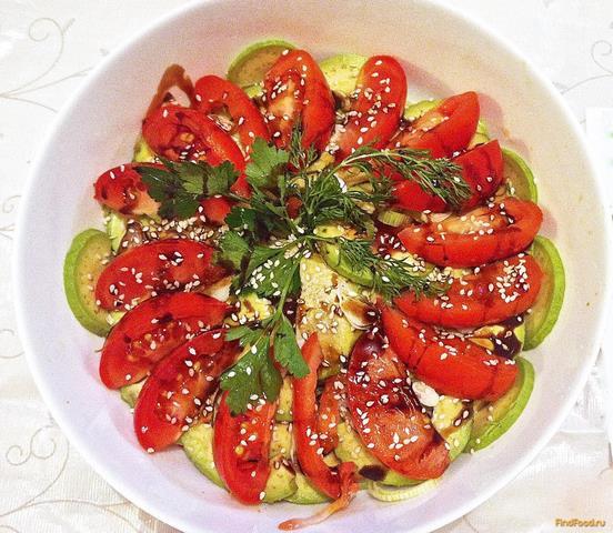 Рецепт Салат овощной с авокадо рецепт с фото