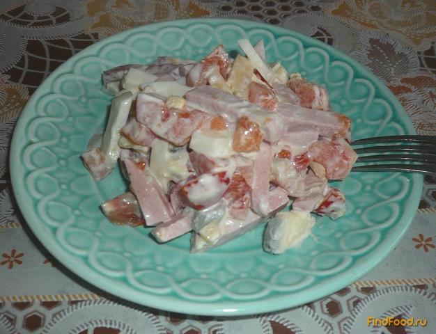салат с роллтоном рецепт с колбасой