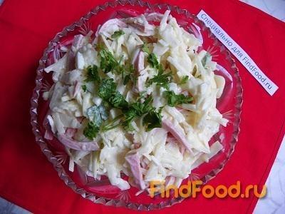 рецепт салата с капустой и луком