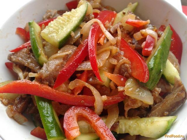 Рецепт Огурцы с мясом по корейски рецепт с фото