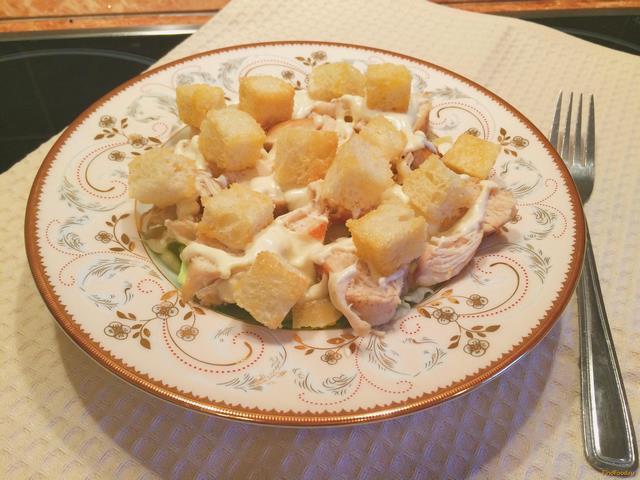 Рецепт Быстрый салат а ля Цезарь рецепт с фото