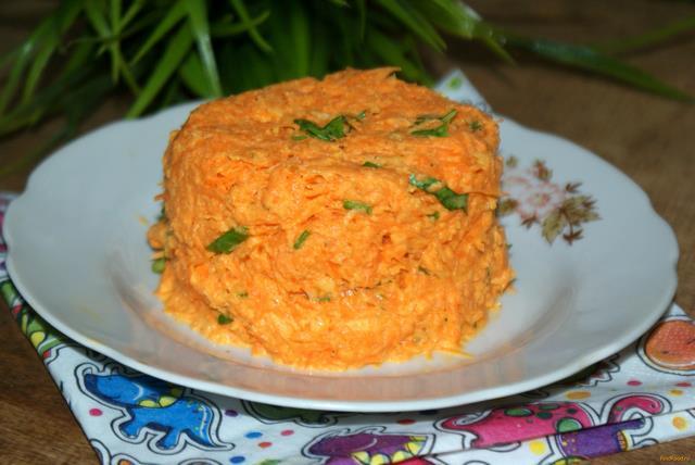 Рецепт Морковный салат с чесноком рецепт с фото