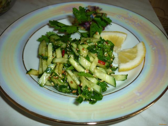 Рецепт Тайский салат с огурцом рецепт с фото