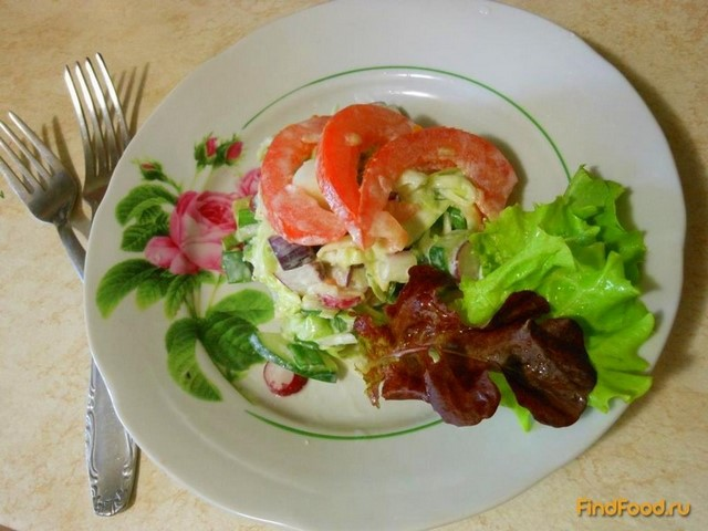 Рецепт Весенний салат Калейдоскоп с овощами рецепт с фото