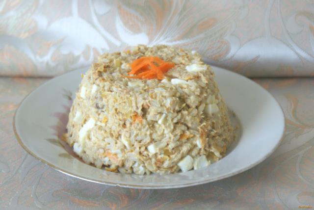 Рецепт Рыбный салат с рисом рецепт с фото