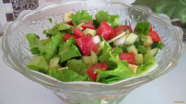 Рецепт Салат овощной с сыром и зеленью рецепт с фото