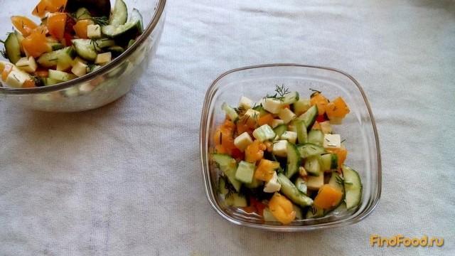 Рецепт Овощной салат с адыгейским сыром рецепт с фото