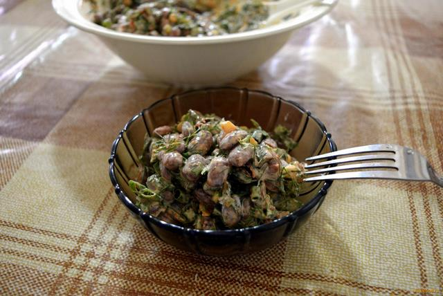 Рецепт Салат с копченым мясом рецепт с фото