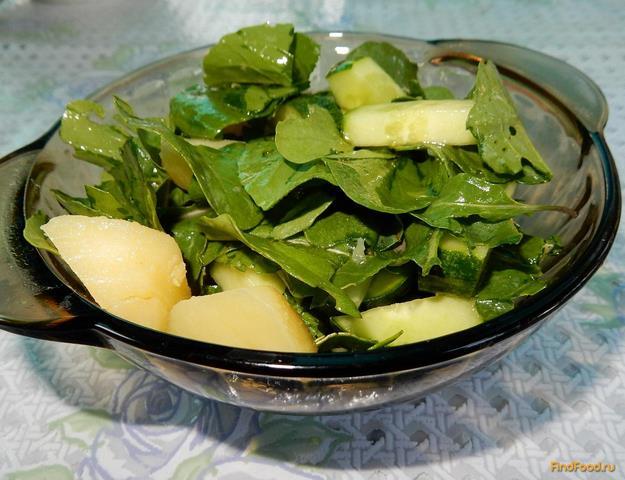 Рецепт Картофельный салат с рукколой и огурцами рецепт с фото