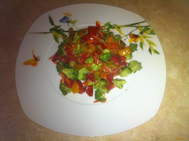 Рецепт Cалат с брокколи рецепт с фото