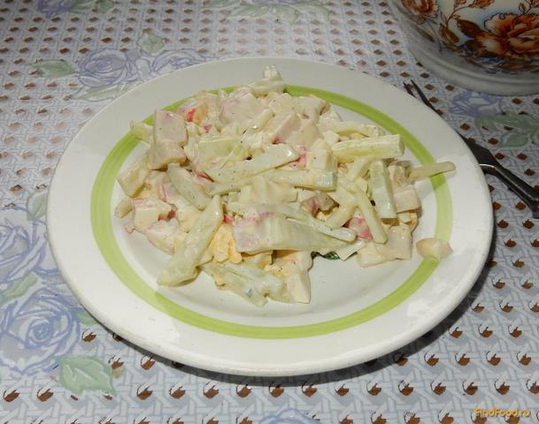 Рецепт Салат из крабового мяса яиц и огурцов рецепт с фото