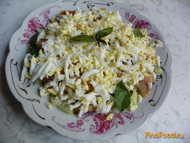 Рецепт Теплый салат с курицей и кабачком рецепт с фото