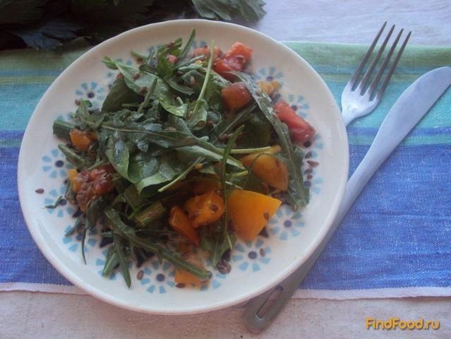 Рецепт Салат с руколой и помидорами рецепт с фото