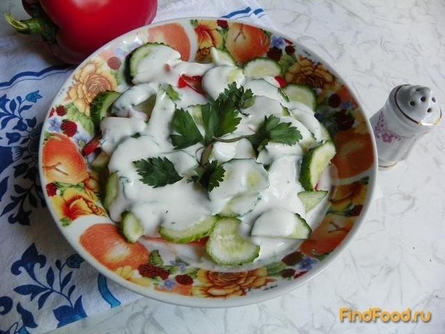Рецепт Овощной салат с яблоком и кефиром рецепт с фото