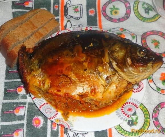 Рецепт Карп запеченный с овощами рецепт с фото