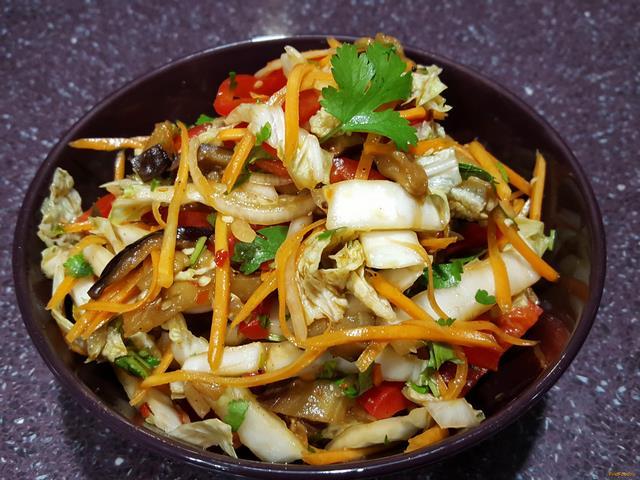 Рецепт Баклажаны c морковью рецепт с фото