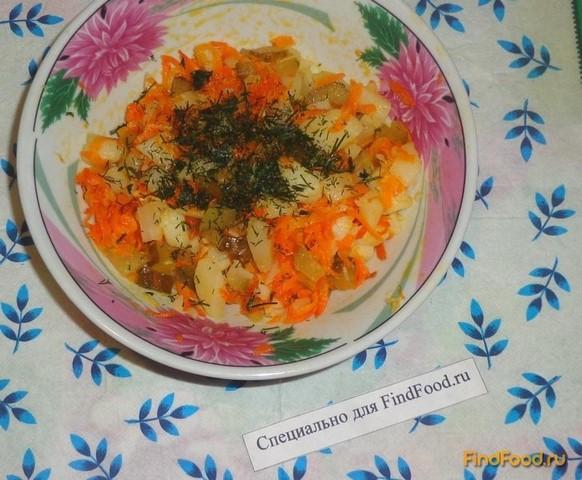салат из картофеля с чесноком рецепт