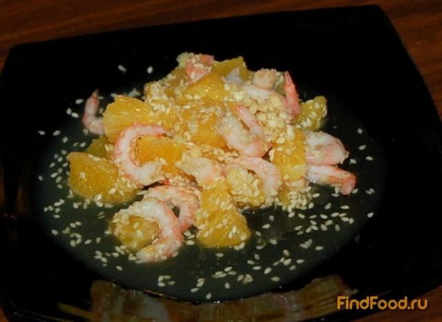 рецепт салата с рыбой и апельсинами