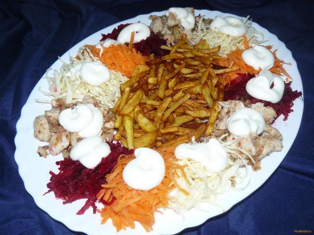 Салат ералаш рецепт с пошагово с картошкой фри