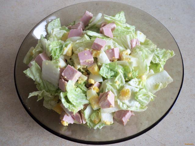 салат с вареной колбасой рецепты