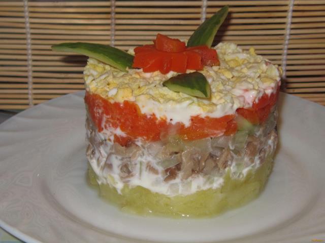 Рецепт салата интердевочка с пошагово 125