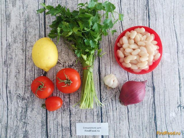 Теплый постный салат с фасолью рецепт с фото 1-го шага