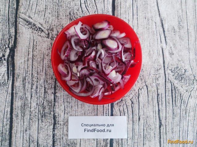 Теплый постный салат с фасолью рецепт с фото 8-го шага
