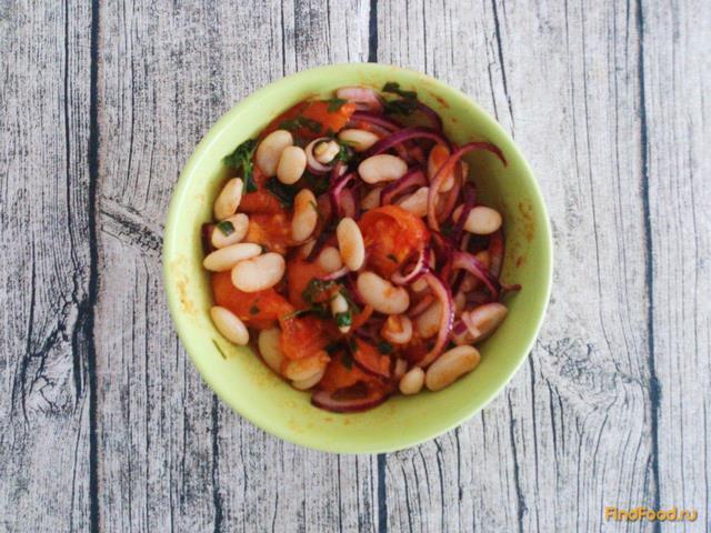 Теплый постный салат с фасолью рецепт с фото 10-го шага