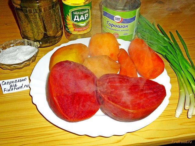 Рецепты винегрета с майонезом